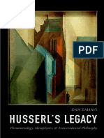 Dan Zahavi - Husserl's Legacy _ Phenomenology, Metaphysics, And Transcendental Philosophy (2018, Oxford University Press)