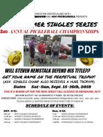 Clark Summer Singles Championship Flyer 2018