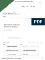 Sistemas Operativos Parcial 2 Tarjetas de Aprendizaje - Memorizar