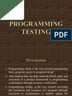 Programming Testing
