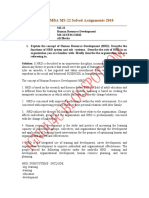 IGNOU MBA MS-22 Solved Assignments 2010