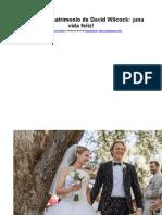 Anuncio de Matrimonio de David Wilcock Una Vida Feliz
