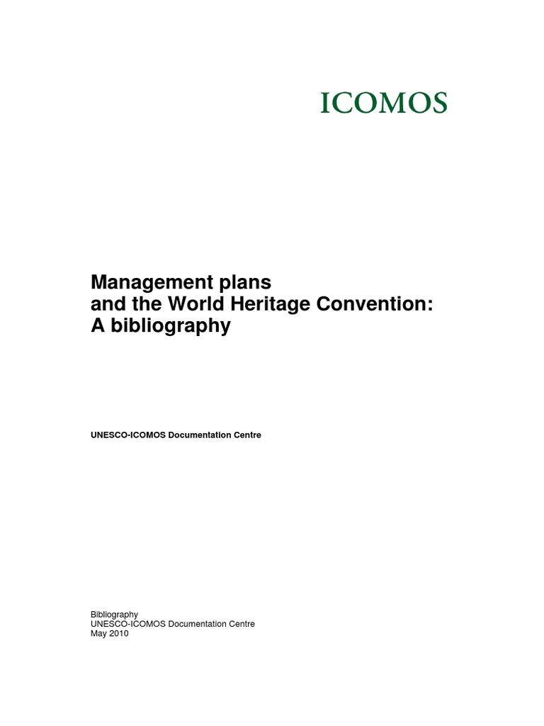Management Plans Bibliography   World Heritage Site   Cultural Heritage