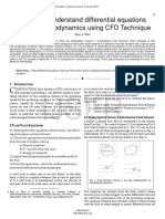 A Study to Understand Differential Equations Applied to Aerodynamics Using CFD Technique