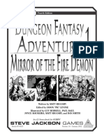 GURPS 4e Dungeon Fantasy Adventure 1 Mirror of the Fire Demon