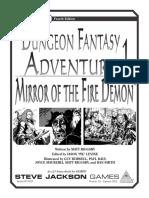 GURPS 4e Dungeon Fantasy Adventure 1 Mirror of the Fire Demon