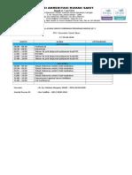 Jadwal Acara - Survei Verifikasi Akreditasi Progsus Ke 2 RSU. Kecamatan Sawah Besar