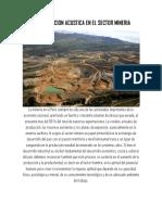 Contaminacion Acustica en El Sector Mineria