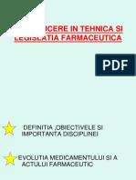 Introducere in Tehnica Si Legislatia Farmaceutica