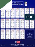 Calendario Serie a 2018 2019
