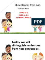 Distinguish Sentences From Non-sentences