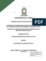 Analisis Del Fracasos Escolar en El Municipio de Las Matas de Farfan Año 2017