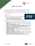 EED Implementation in Croatia