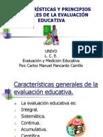 Caractersticas y Principios Generales de La Evaluacion Educativa