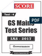 GS Score 2017 Mains Test 4 with Solutions - Governance.pdf