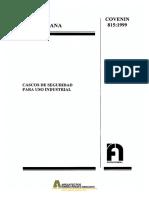 2018.06.29 COVENIN 0815-1999 Cascos de Seguridad para uso Industrial.pdf