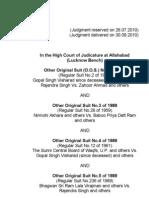 Ayodhya  -Justice Sibghat Ullah Khan