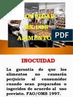 1.- Inocuidad Alimentaria