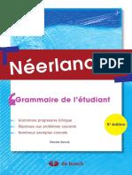 Néerlandais Grammaire de l'étudiant