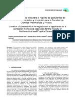 Creación de un sitio web para el registro de postulantes de un concurso de méritos y oposición