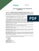 Carta Garantia / Quality Guarantee letter