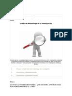 Cursoi de Metodologia de La Investigacion