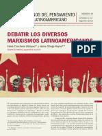 Debatir los diversos marxismos latinoamericanos