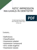 8. Non-Elastic Impression Material