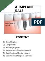 7. Dental Implant Materials