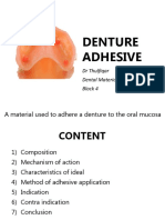 6. Denture Adhesive