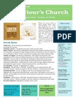 st saviours newsletter - 5 august 2018