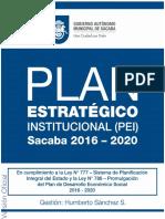 Plan Estrategico Institucional Municipio de Sacaba