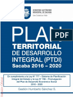 Documento PTDI Sacaba 2016-2020