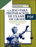 Carlos Lopez Diaz y otro - Curso para Preparación de Examen de Grado - Tomo I