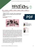 """Baby, La Vida e' Un Ciclo"""". Breve Apuntación Crítica en Torno Al Valor Literario de Te Boté Remix"""