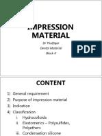3. Impression Materials