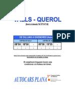 Valls-Querol (Horaris)