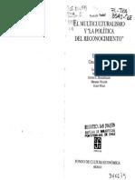 La Politica de Reconocimiento Charles Taylor-1 -1