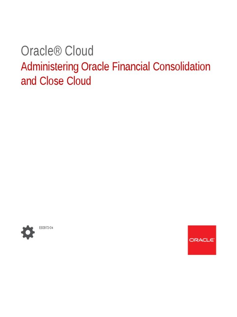 FCCS Admin Guide   License   Oracle Corporation