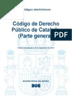 BOE-167 Codigo de Derecho Publico de Cataluna Parte General