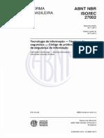 ABNT 27002-2013