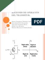 Regiones de Operación Del Transistor