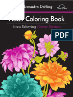 Adult Coloring Book - Stress Relieving Flower Patterns