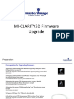 MI-CLARITY3D Firmware Upgrade