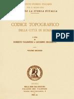 Codice Topografico Della Città Di Roma-Vol2
