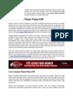 Cari Alamat Main Poker338