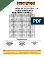 Sopa de Letras de Control de Las Verificaciones Internacionales