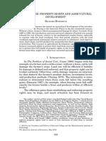 Derechos de Propiedad y Desarrollo de La Agricultura
