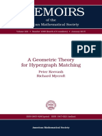 A Geometric Theory for Hypergraph Matching