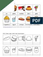Aliments i Menjars Fitxes Lectoescriptura %28Lligada%29